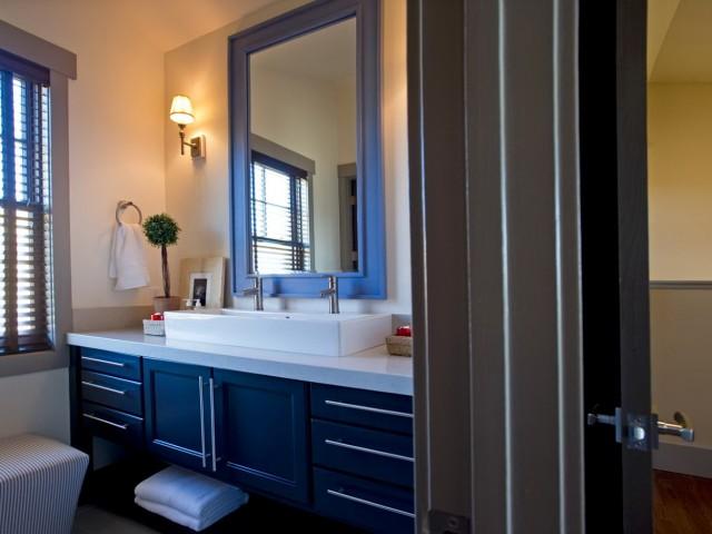 Dark Blue Bathroom Vanity