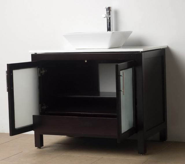 Dark Wood Bathroom Vanities