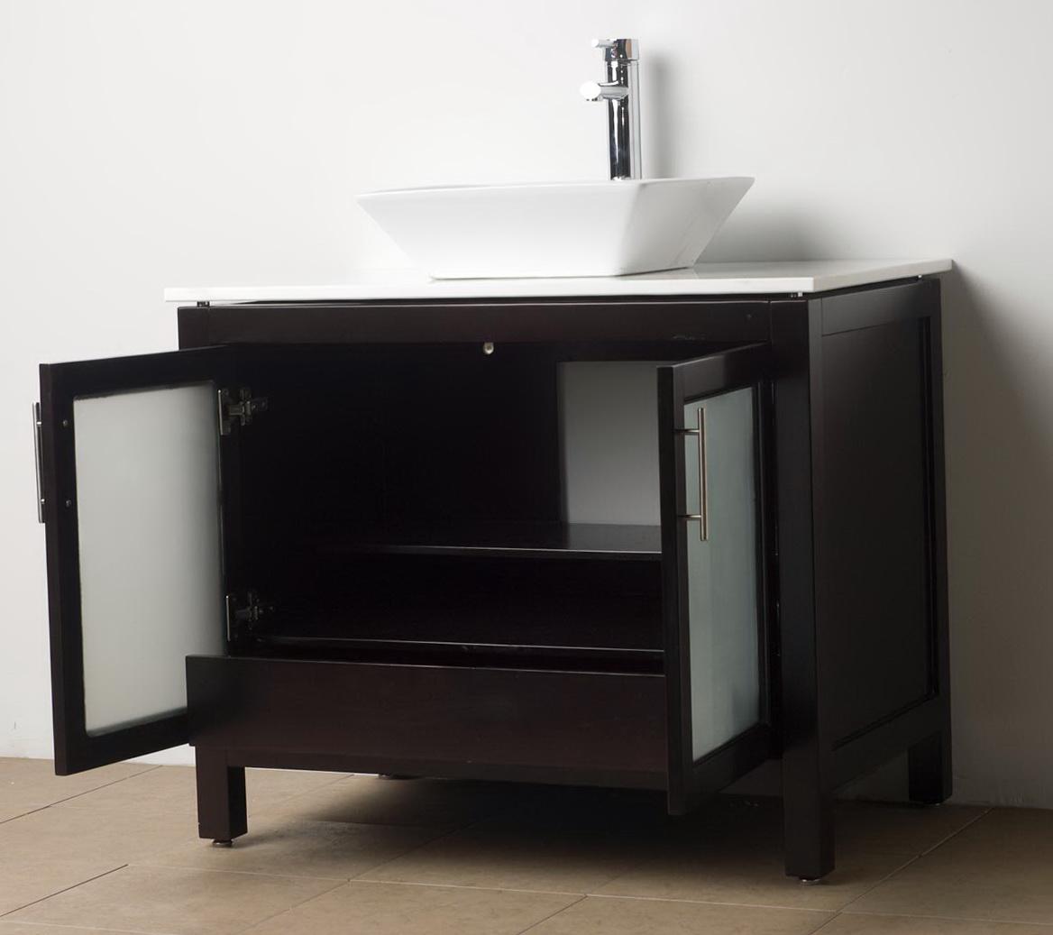 Dark Wood Bathroom Vanities