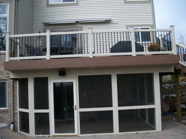 Deck With Screened Porch Underneath