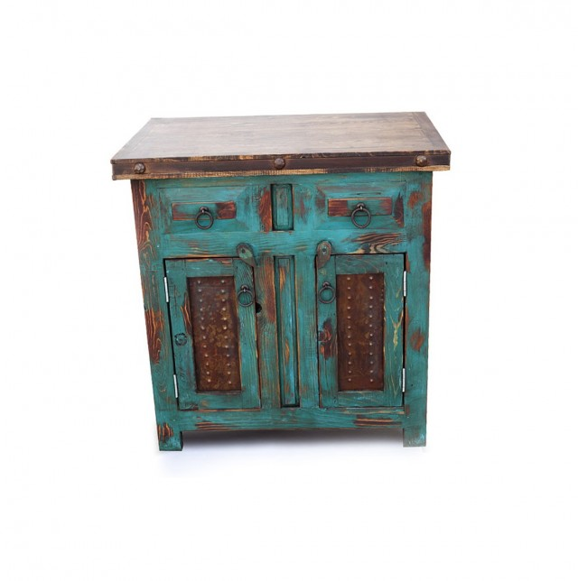 Distressed Wood Bathroom Vanity