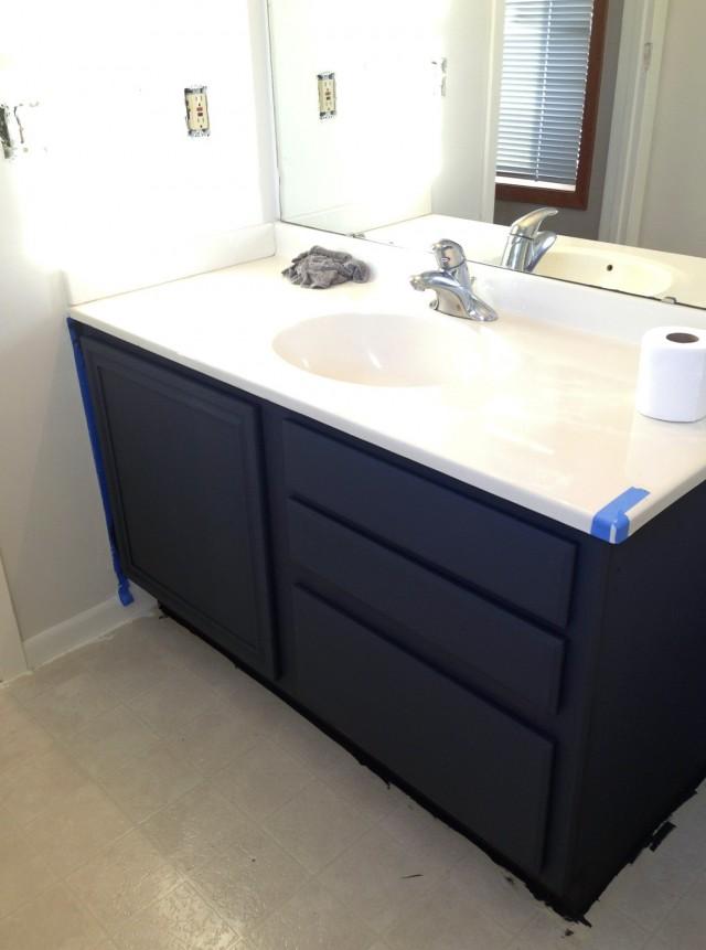 Diy Painting Bathroom Vanity