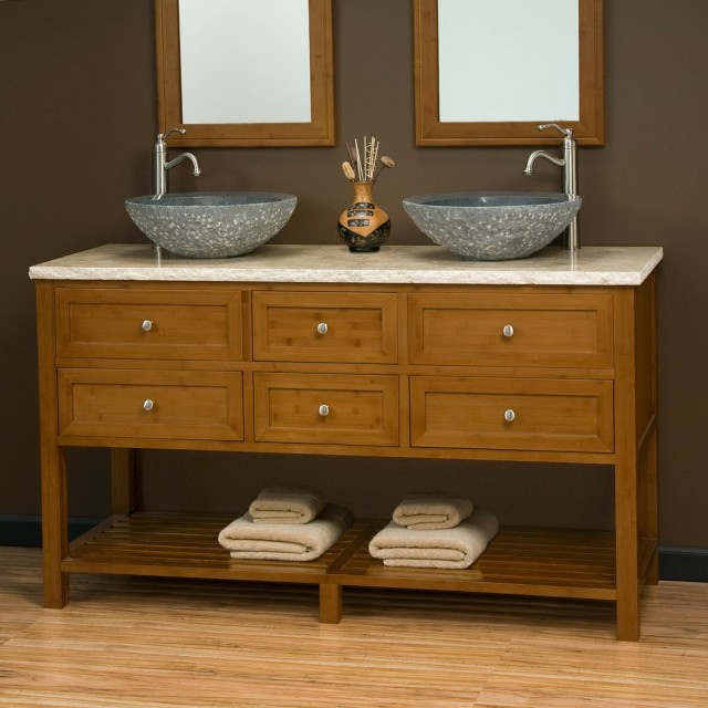 Double Vessel Sink Bathroom Vanities