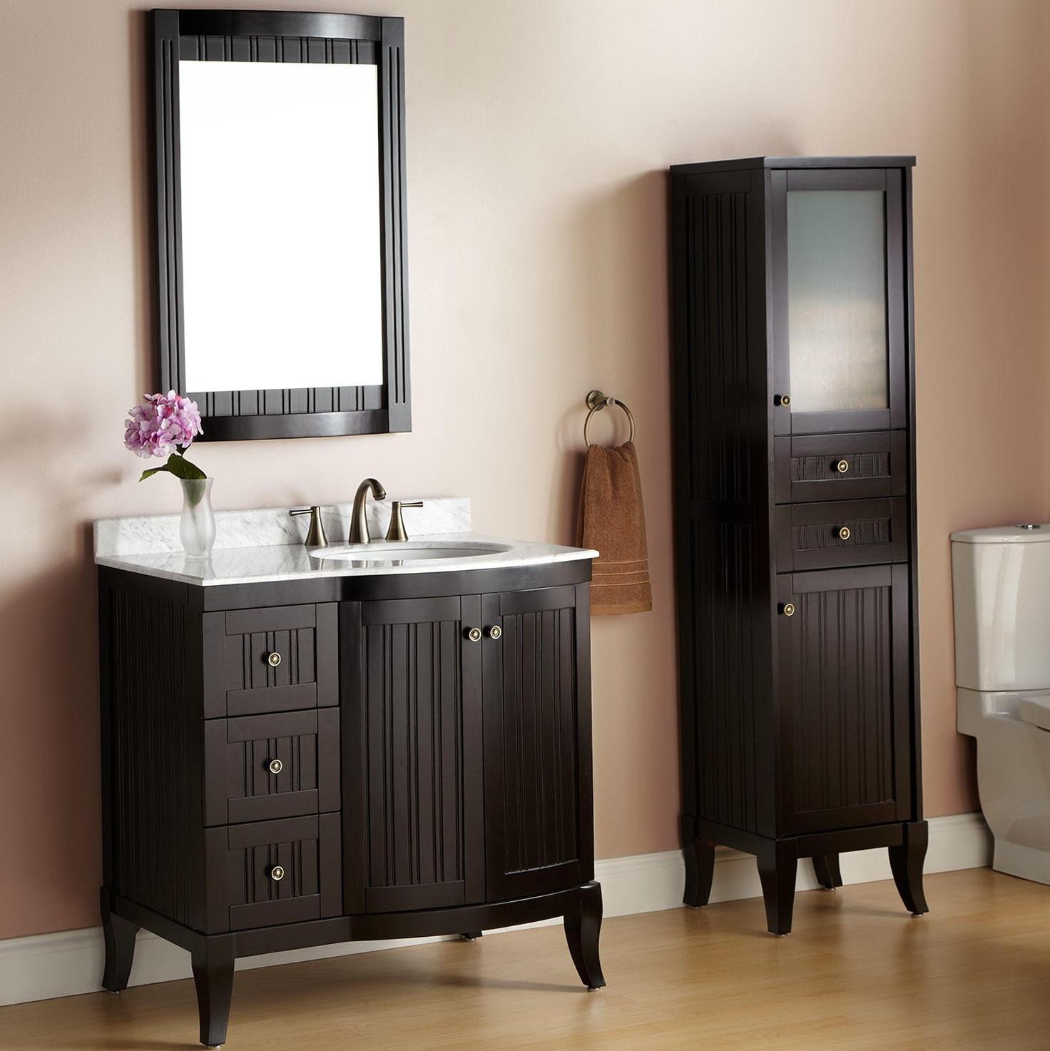 Espresso Bathroom Vanity Set