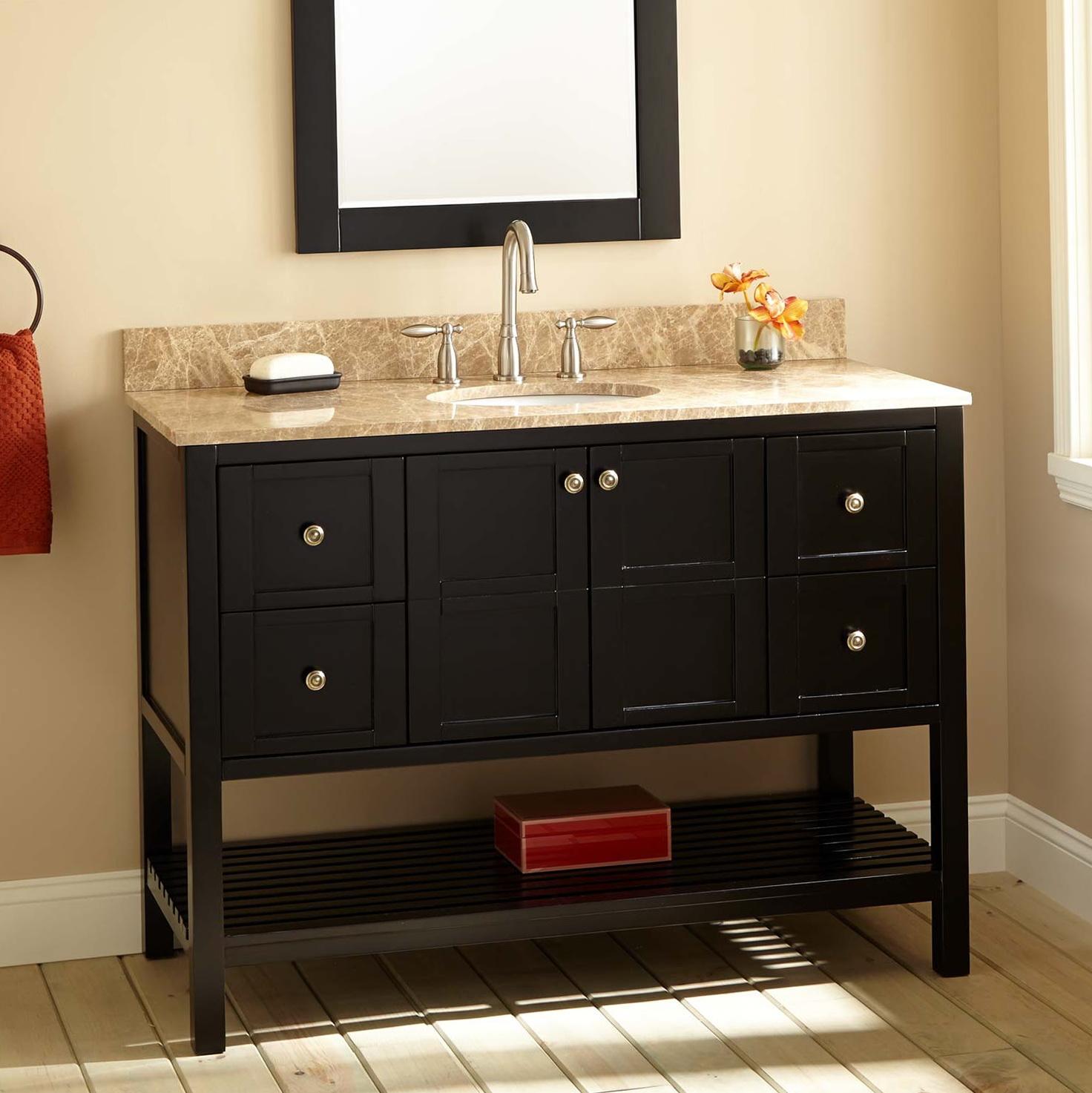 Espresso Bathroom Vanity With Sink