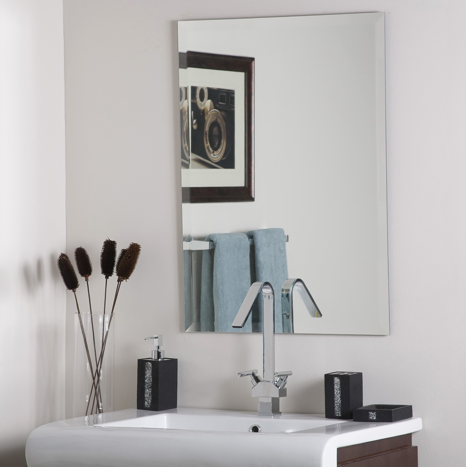 Frameless Vanity Mirrors For Bathroom