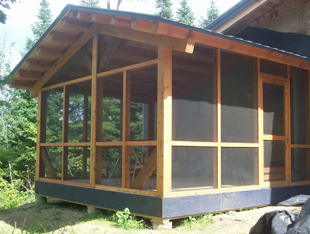 Framing A Screened Porch