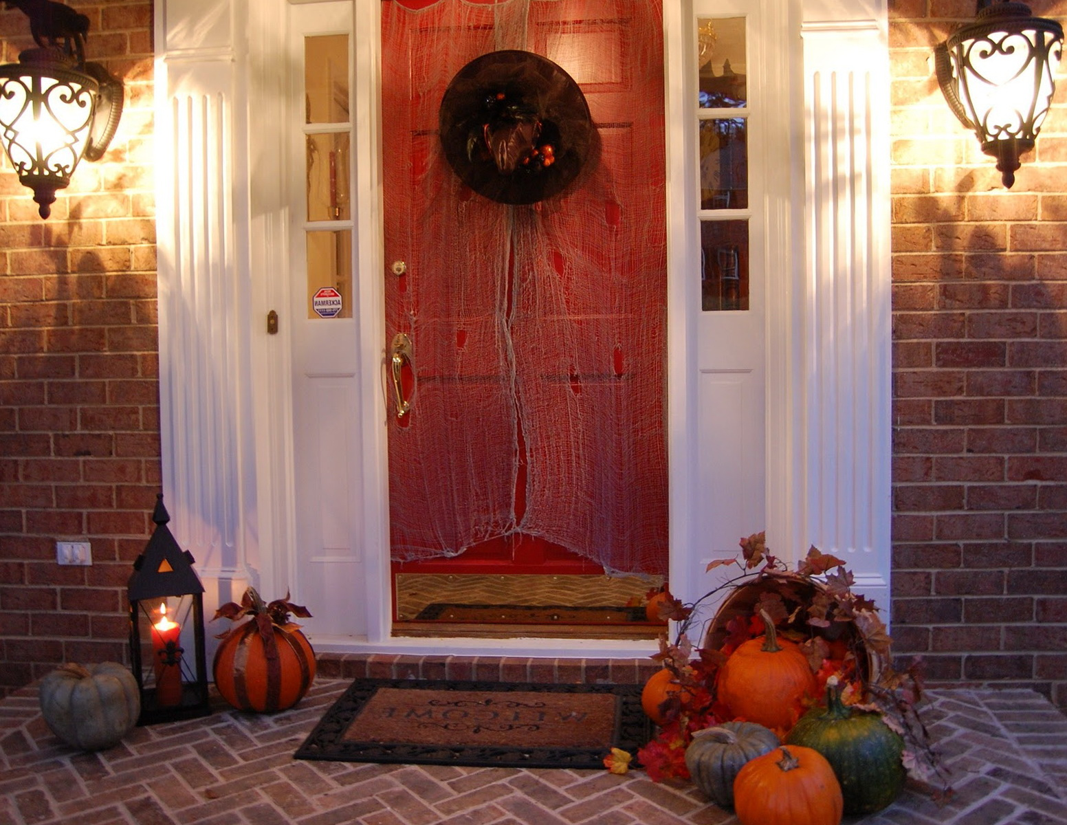 Front Porch Fall Decorating