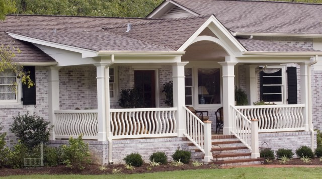 Front Porch Flat Roof Designs