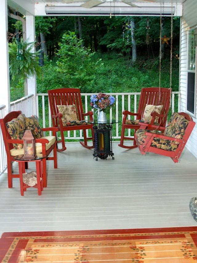 Front Porch Patio Furniture Ideas