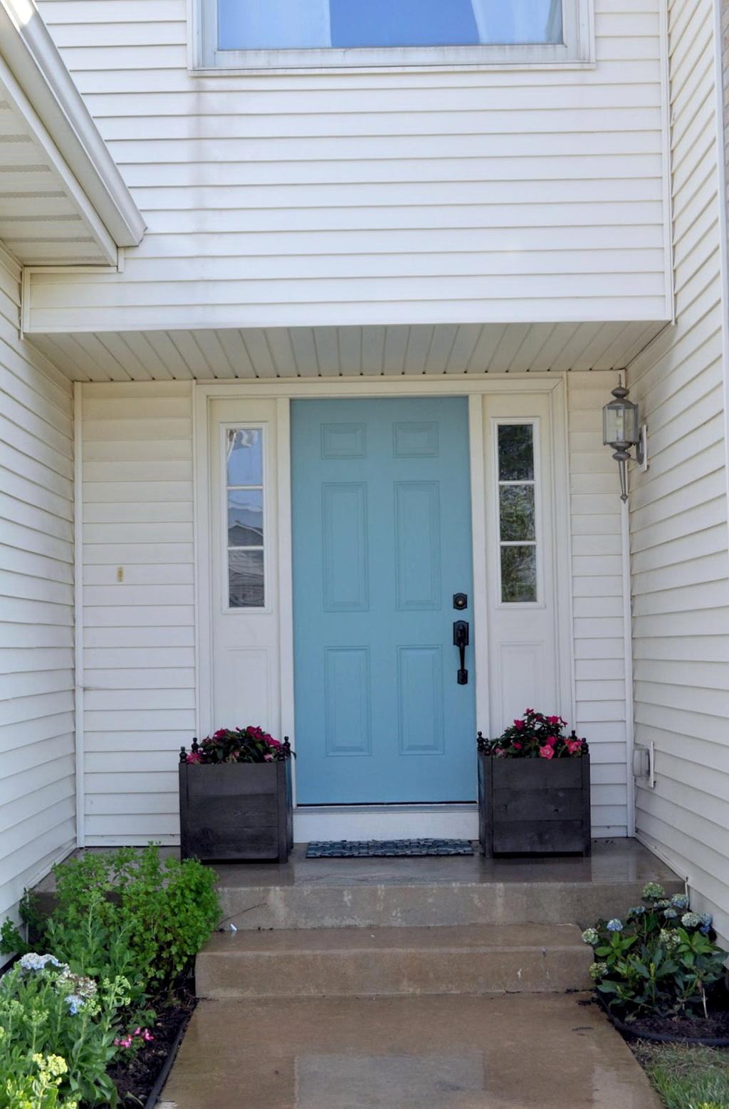 Front Porch Planter Boxes