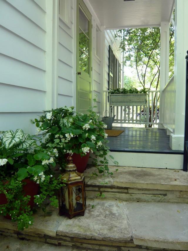 Front Porch Pots Ideas