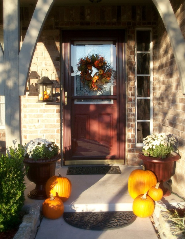 Front Porches Decorated For Fall