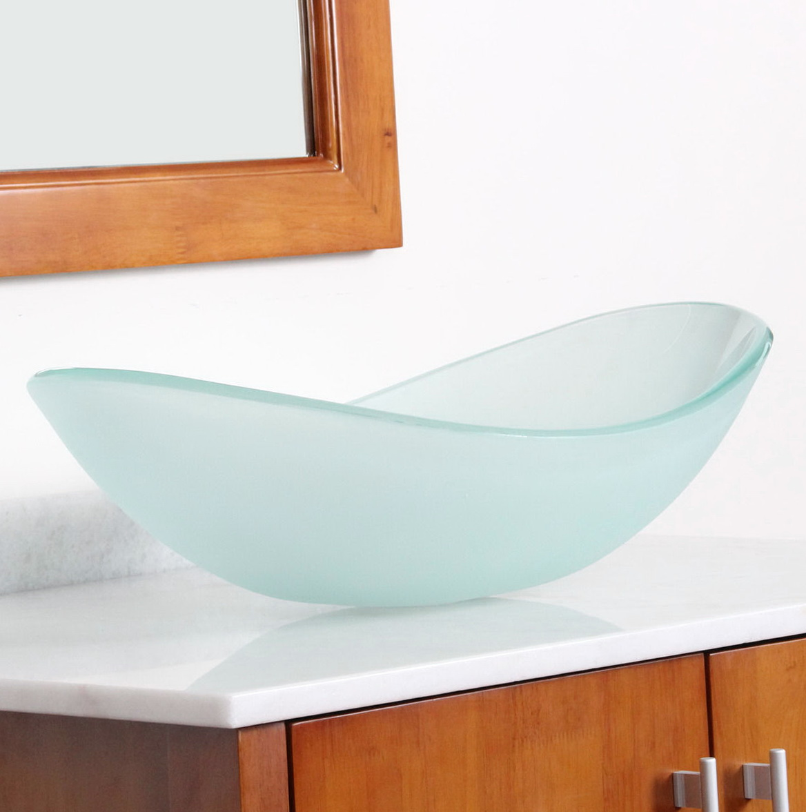 Frosted Glass Vanity Top