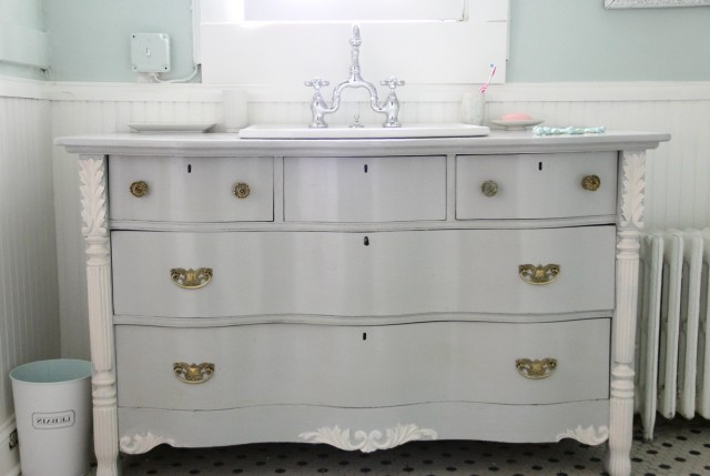 Furniture Turned Into Bathroom Vanity