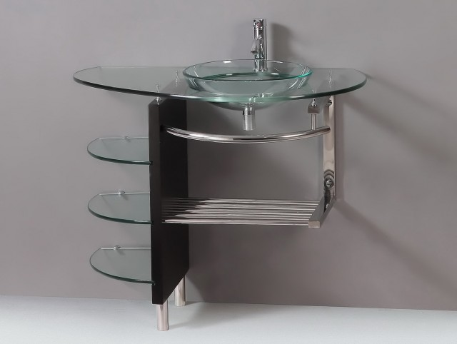 Glass Vessel Sink Vanity Combo