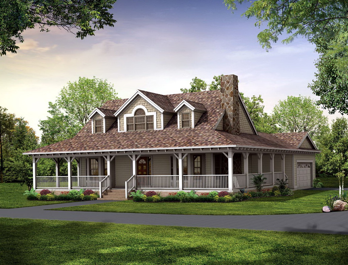 House Plan With Wrap Around Porch One Floor
