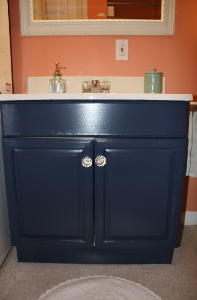 How To Paint A Laminate Bathroom Vanity