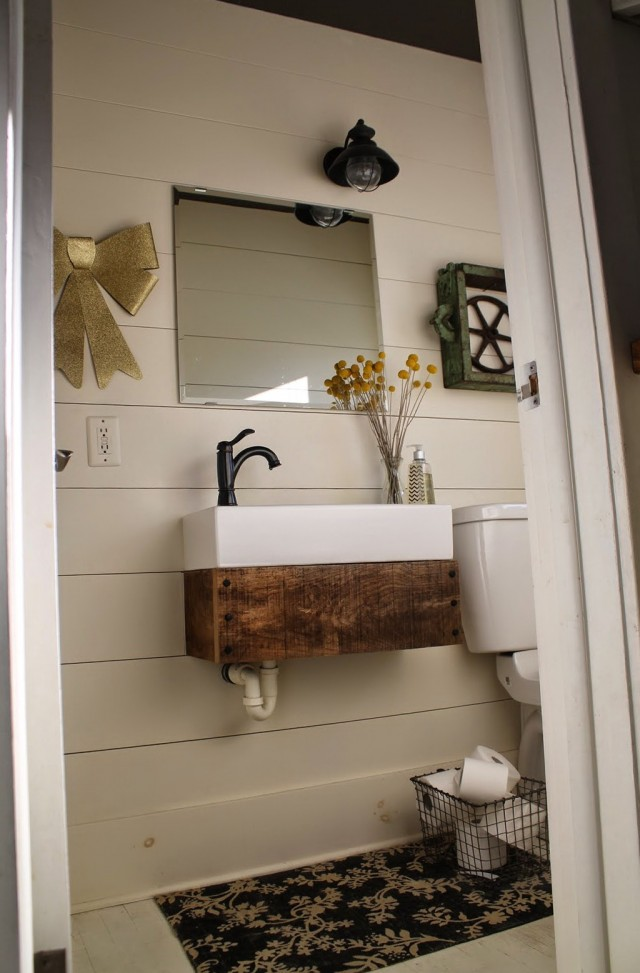 Industrial Style Bathroom Vanity
