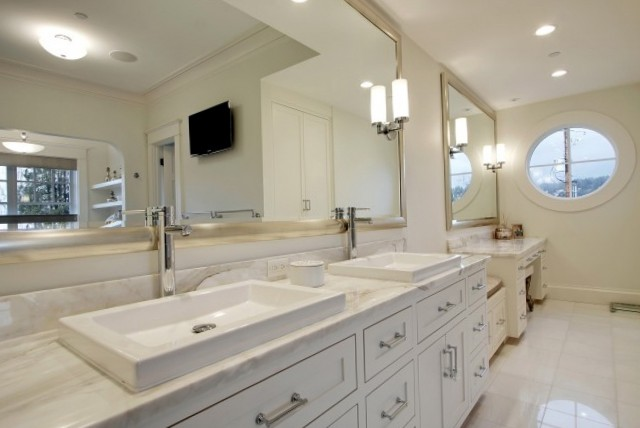 Large Framed Bathroom Vanity Mirrors