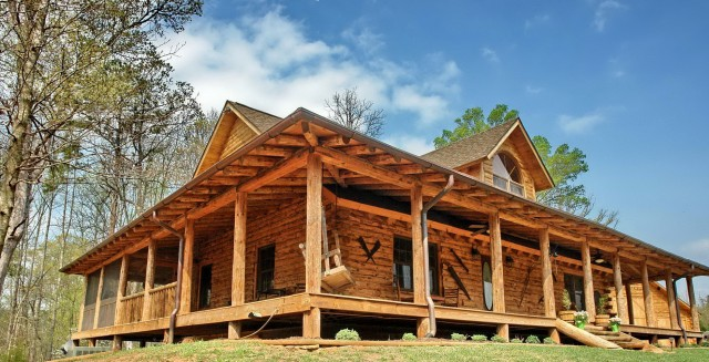 Log Cabin Floor Plans With Wrap Around Porch