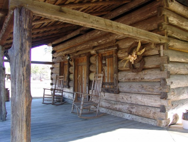 Log Cabin Front Porches