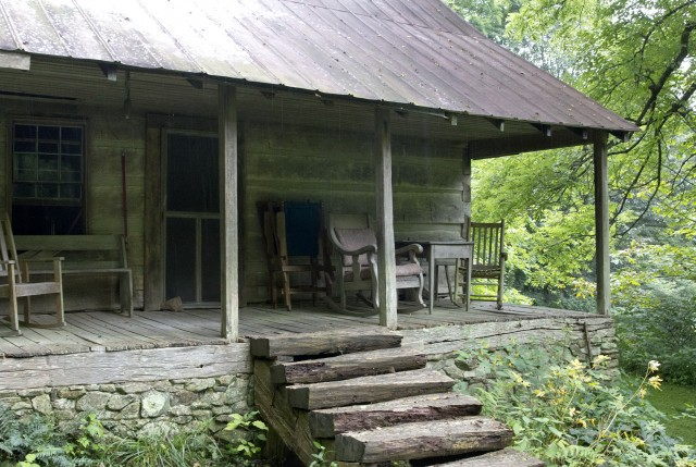 Log Cabin Porch Columns