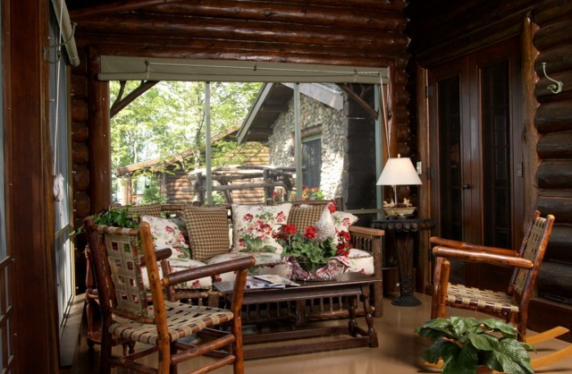 Log Cabin Porch Decorating Ideas
