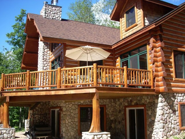 Log Cabin Porch Railings