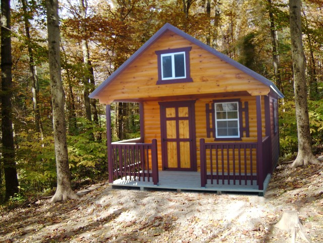 Log Cabin Shed With Porch