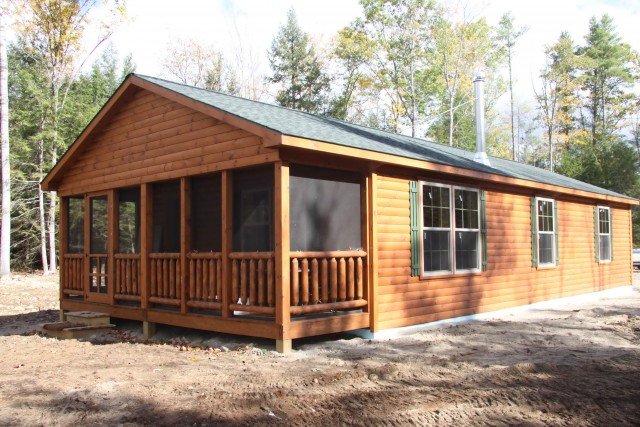 Log Home Screened Porches