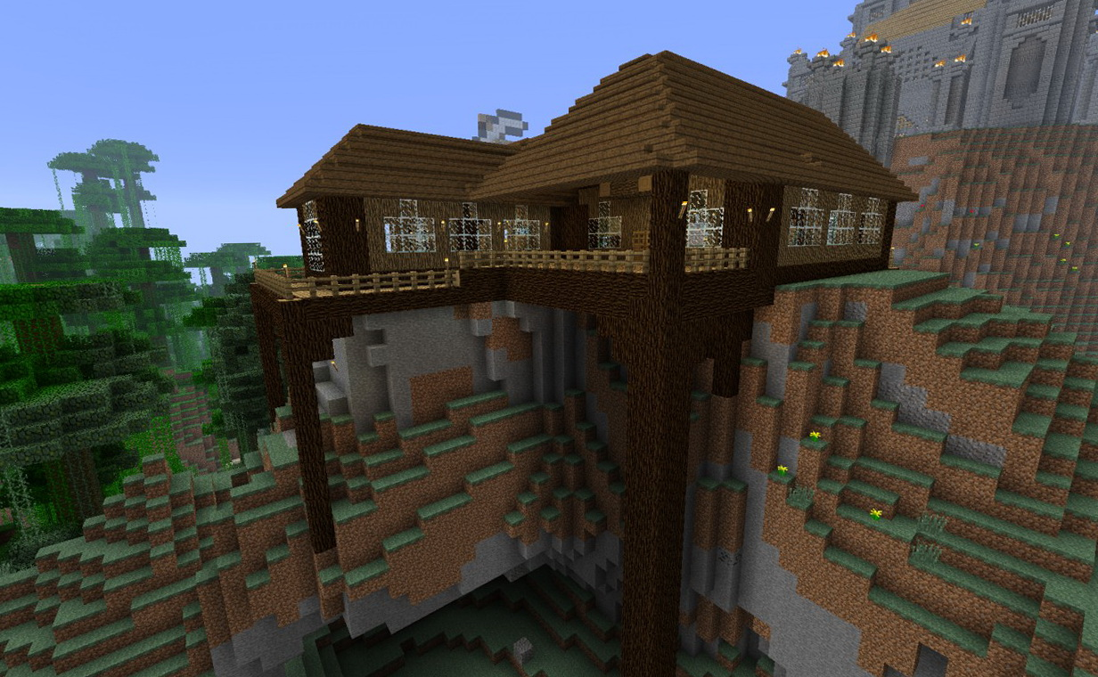 Minecraft House With A Porch