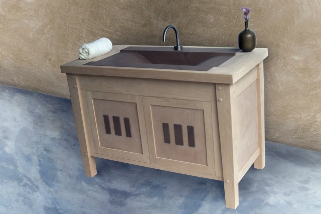 Mission Style Bathroom Vanity Cabinet