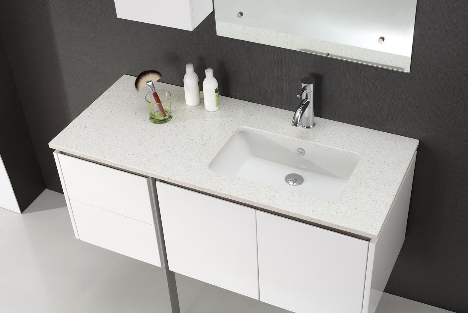Modern White Vanity Bathroom