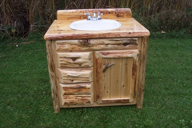 Natural Wood Bathroom Vanities