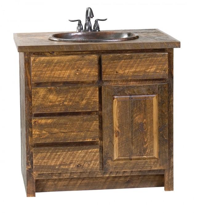 Natural Wood Bathroom Vanity