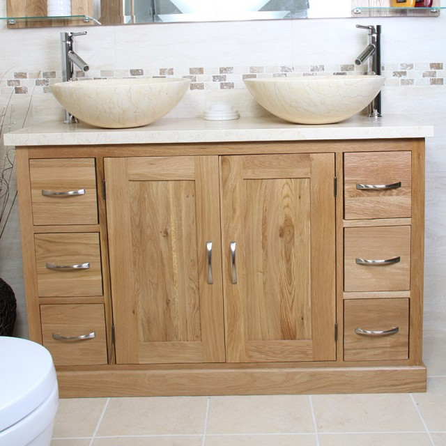 Oak Bathroom Sink Vanity Units