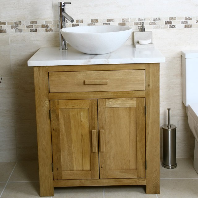 Oak Bathroom Vanity Units