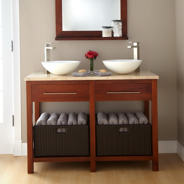 Open Bathroom Vanity Ideas
