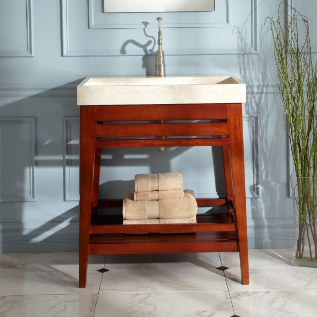 Open Shelf Bathroom Vanity Plans