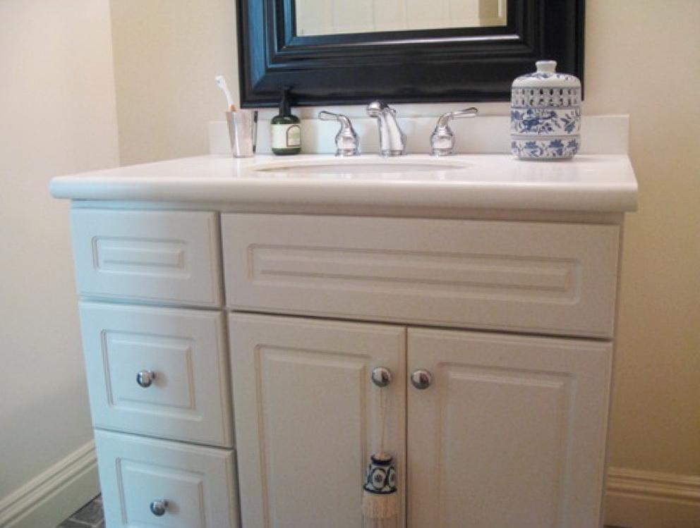 Paint Bathroom Vanity White