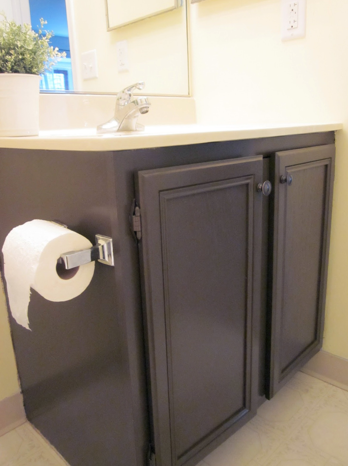 Painted Oak Bathroom Vanity