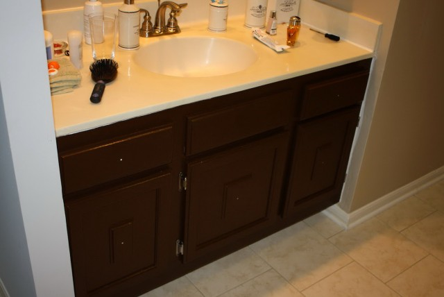 Painting A Bathroom Vanity Brown