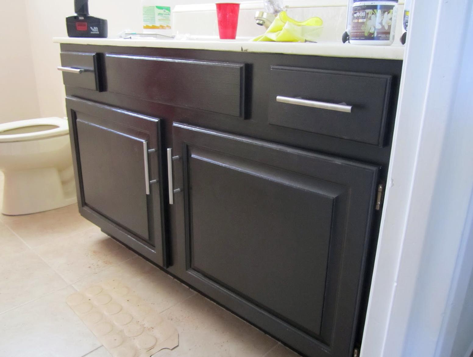 Painting A Bathroom Vanity Cabinet