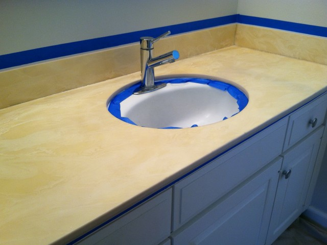 Painting A Bathroom Vanity Countertop