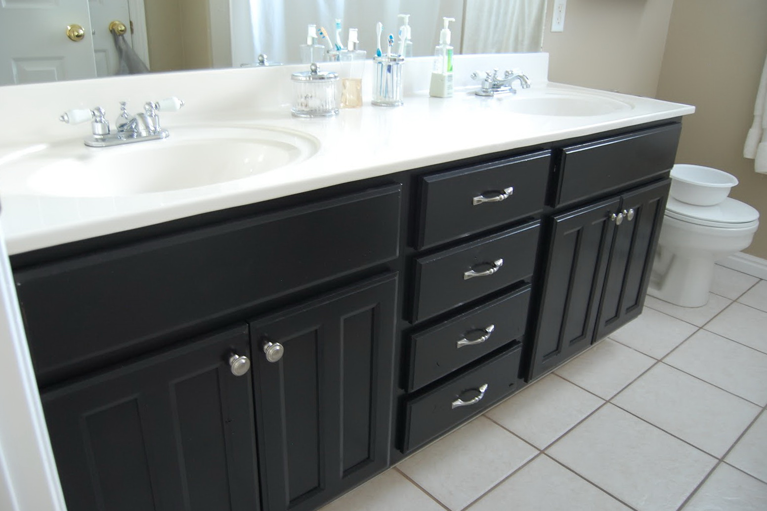 Painting Bathroom Vanity Black