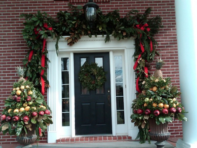Porch Christmas Decorations Pinterest