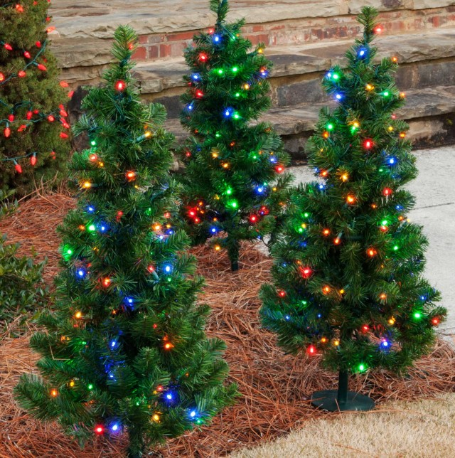 Pre Lit Porch Christmas Trees