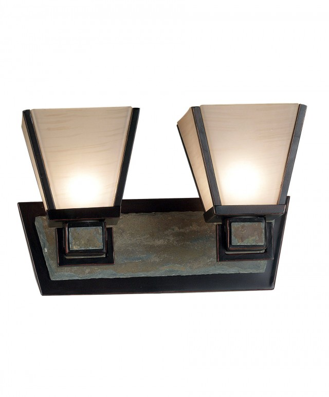 Rubbed Bronze Vanity Lights