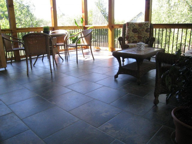 Screen Porch Flooring Ideas